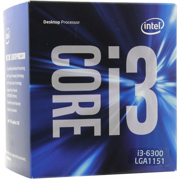 Intel Core i3 6300 / 3.8GHz