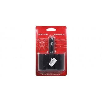 Разветвитель розетки прикуривателя с USB разъемом Supra SCP 2-12U