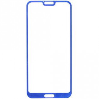 Защитное стекло Aceline для смартфона Honor 10/10 Premium синяя рамка