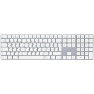 Клавиатура беспроводная Apple Magic Keyboard with Numeric Keypad White/Silver MQ052RS/A
