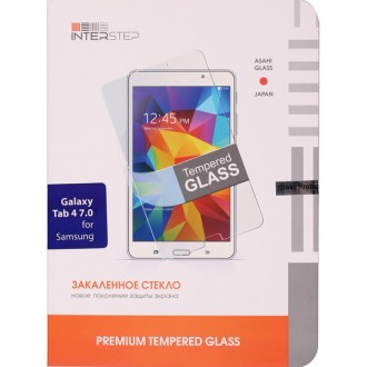 Защитное стекло для планшетного компьютера InterStep Для Samsung Galaxy Tab 4 7'