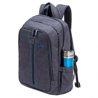 """Рюкзак для ноутбука до 15"""" Riva 7560 Gray"""