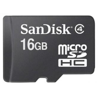 Карта памяти  Sandisk microSDHC Card 16GB Class 4 SDSDQM-016G-B35