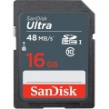 Карта памяти SanDisk Ultra SDHC 16Gb Class 10 (SDSDUNB-016G-GN3IN)