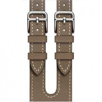 Ремешок для Apple Watch, Swift Leather Double Buckle Cuff 38mm MNHR2ZM/A Étoupe