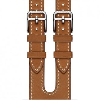 Ремешок для Apple Watch, Barenia Leather Double Buckle Cuff 38mm MPXD2ZM/A Fauve