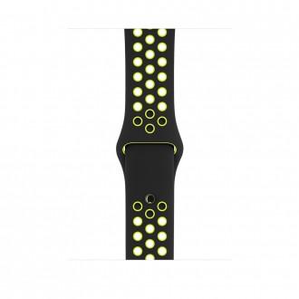 Ремешок для Apple Watch, Nike Sport Band - S/M & M/L 42mm MQ2Q2ZM/A Black/Volt
