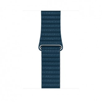 Ремешок для Apple Watch, Leather Loop - Medium 42mm MQV52ZM/A Cosmos Blue