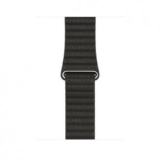 Ремешок для Apple Watch, Leather Loop - Medium 42mm MQV62ZM/A Charcoal Gray