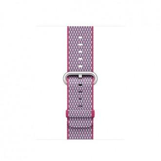 Ремешок для Apple Watch, Check Woven Nylon 38mm MQVD2ZM/A Berry