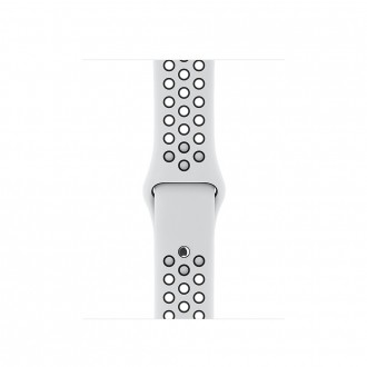 Ремешок для Apple Watch, Nike Sport Band - S/M & M/L 38mm MQWH2ZM/A Pure Platinum/Black