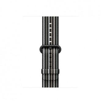 Ремешок для Apple Watch, Woven Nylon 38mm MRHC2ZM/A Black Stripe
