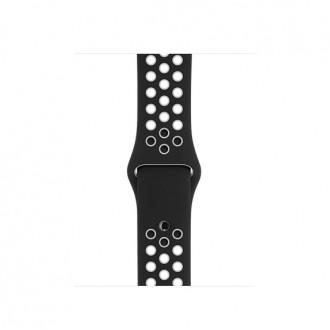 Ремешок для Apple Watch, Nike Sport Band - S/M & M/L MRHJ2ZM/A Black/White