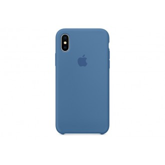 Чехол для iPhone X, Apple Silicone Case MRG22ZM/A Denim Blue
