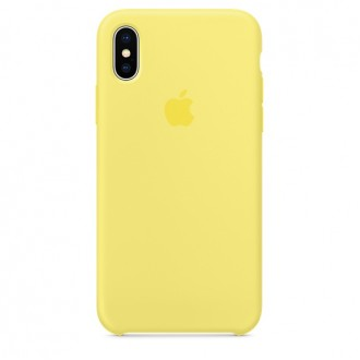 Чехол для iPhone X, Apple Silicone Case MRG32ZM/A Lemonade