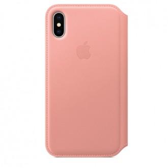 Чехол для iPhone X, Apple Leather Folio MRGF2ZM/A Soft Pink