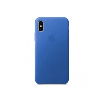 Чехол для iPhone X, Apple Leather Case MRGG2ZM/A Electric Blue