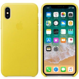 Чехол для iPhone X, Apple Leather Case MRGJ2ZM/A Spring Yellow