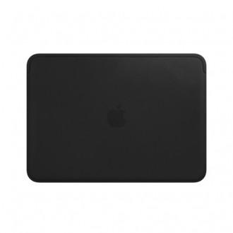 "Чехол для MacBook 12"", Apple Leather MTEG2ZM/A Black"