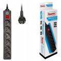 Сетевой фильтр Buro 600SH-3-B, 3 м Black