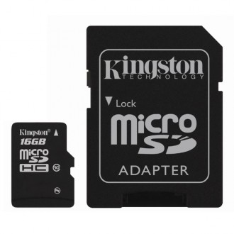 Карта памяти Kingston SDHC Micro SDC10/16GB