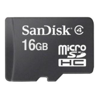 Карта памяти Sandisk microSDHC Card Class 4 16GB + SD adapter SDSDQM-016G-B35A