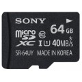 Карта памяти Sony SDHC Micro SR64UYA