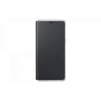 Чехол для Samsung Galaxy A8 2018, Neon Flip Cover Black