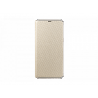 Чехол для Samsung Galaxy A8 2018, Neon Flip Cover Gold