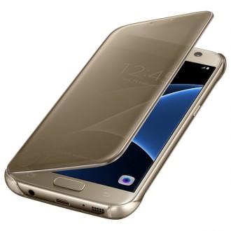 Чехол для Samsung Galaxy S7, Samsung Clear View Cover  Gold