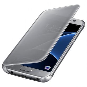 Чехол для Samsung Galaxy S7, Samsung Clear View Cover  Silver