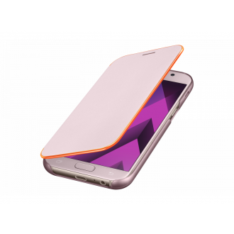 Чехол для Samsung Galaxy A7 2017, Samsung Neon Flip Cover Pink