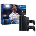 Игровая консоль PlayStation 4 1Tb FIFA 18 + 2 геймпада+PS Plus 14д. (50914715)Black