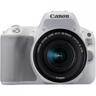 Зеркальный фотоаппарат Canon EOS 200D Kit White