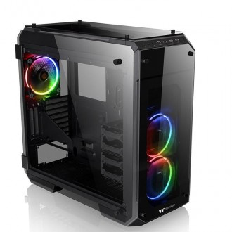 Компьютерный корпус Thermaltake View 71 Tempered Glass RGB CA-1I7-00F1WN-01 Black