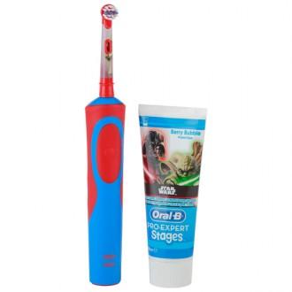 Электрическая зубная щетка Braun Vitality D14K Star Wars red / blue color