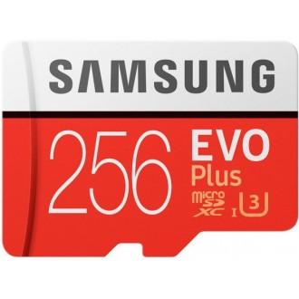 Карта памяти Samsung EVO Plus microSD 256GB  Red