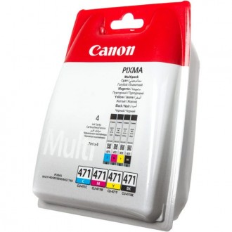 Картридж CANON CLI-471C/M/Y/Bk 0401C004 многоцветный