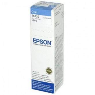 Картридж EPSON T6732 C13T67324A голубой