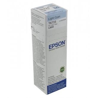 Картридж EPSON T6735 C13T67354A светло-голубой