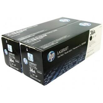 Двойная упаковка картриджей HP 36A CB436AF черный