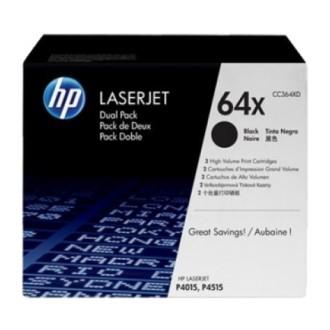 Двойная упаковка картриджей HP 64X CC364XD черный