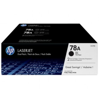Двойная упаковка картриджей HP 78A CE278AF черный