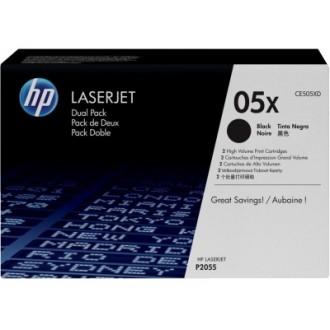 Двойная упаковка картриджей HP 05X CE505XD черный