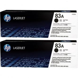 Двойная упаковка картриджей HP 83A CF283AD черный