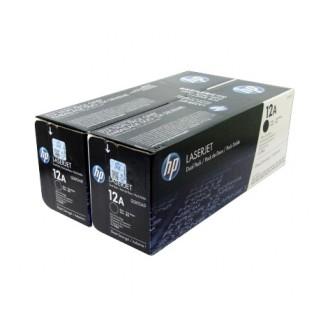 Двойная упаковка картриджей HP 12A Q2612AF черный