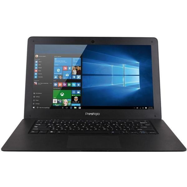 Prestigio Ноутбук Prestigio SmartBook 141A03 Black (PSB141A03BFW_MB_CIS) (Intel Atom Z3735F 1300 MHz/14.1/1366x768/2.0Gb/32Gb SSD/DVD нет/Intel GMA HD/Wi-Fi/Bluetooth/Win 10 Home)