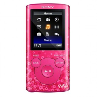 Портативный медиаплеер Sony NWZ-E383/PC Pink