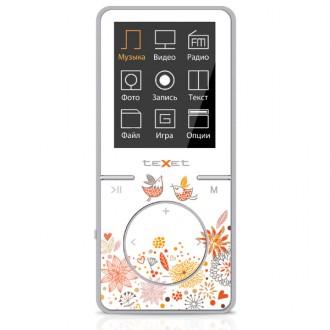 Портативный медиаплеер teXet T-48 White/Orange