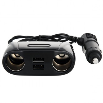 Разветвитель розетки прикуривателя с USB разъемом Wiiix TR-04U2